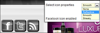 Selecting icon properties