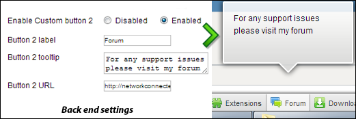 Create custom buttons for joomla toolbar